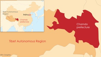 Karte Radio Free Asia, 23. Januar 2019