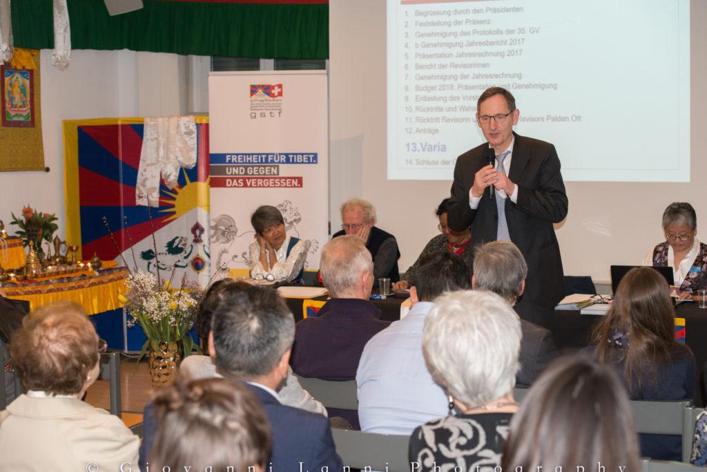 Mario Fehr an der Jubiläums-Generalversammlung der GSTF in Zürich