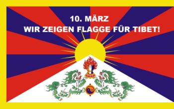 TibetflaggeZeigen