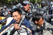 Symbolbild (protestierende Tibeter vor dem chinesischen Konsulat in Kathmandu 2012, Radio Free Asia)
