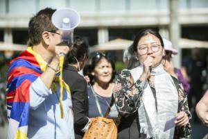 Remise de la pétition au Tibet